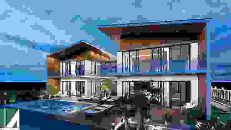 BIỆT THỰ NGHỈ DƯỠNG - HIỆN ĐẠI 2 TẦNG bởi Kiến trúc Việt Xanh
