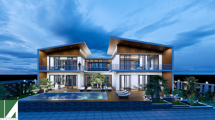 BIỆT THỰ NGHỈ DƯỠNG – HIỆN ĐẠI 2 TẦNG bởi Kiến trúc Việt Xanh