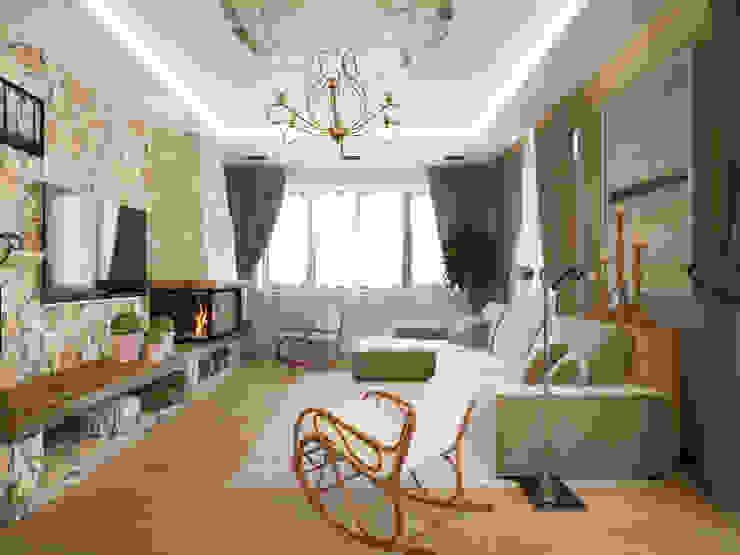 гостиная Гостиная в стиле модерн от lesadesign Модерн