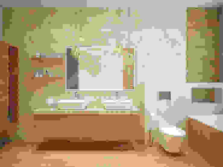 Загородный дом в г. Истра Ванная комната в стиле модерн от lesadesign Модерн Изделия из древесины Прозрачный
