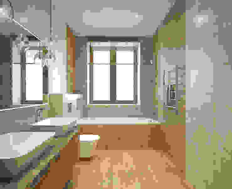 Загородный дом в г. Истра Ванная комната в стиле модерн от lesadesign Модерн Керамика
