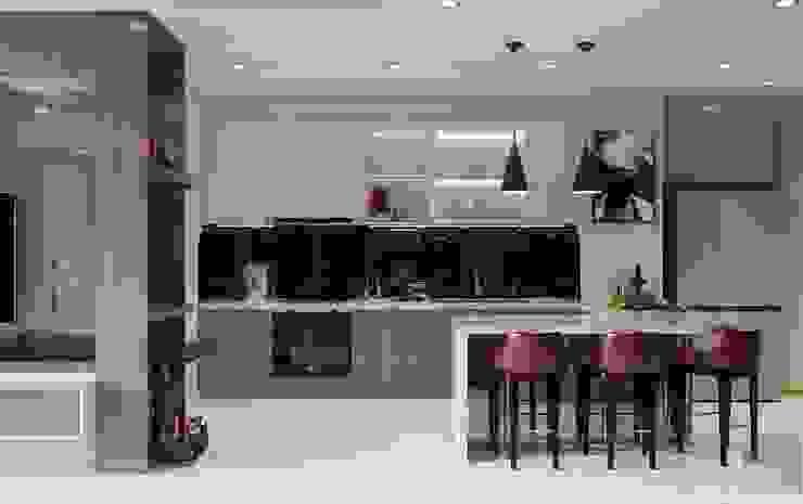 THIẾT KẾ TẬN DỤNG MỌI KHÔNG GIAN – Căn hộ Park 7 Vinhomes Central Park Nhà bếp phong cách hiện đại bởi ICON INTERIOR Hiện đại