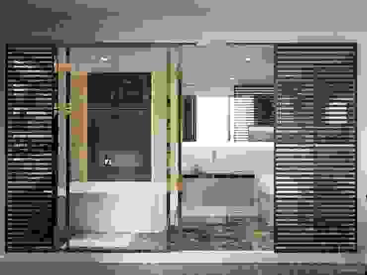 THIẾT KẾ TẬN DỤNG MỌI KHÔNG GIAN – Căn hộ Park 7 Vinhomes Central Park Phòng tắm phong cách hiện đại bởi ICON INTERIOR Hiện đại