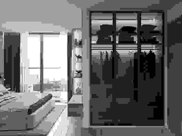 THIẾT KẾ TẬN DỤNG MỌI KHÔNG GIAN – Căn hộ Park 7 Vinhomes Central Park Phòng ngủ phong cách hiện đại bởi ICON INTERIOR Hiện đại