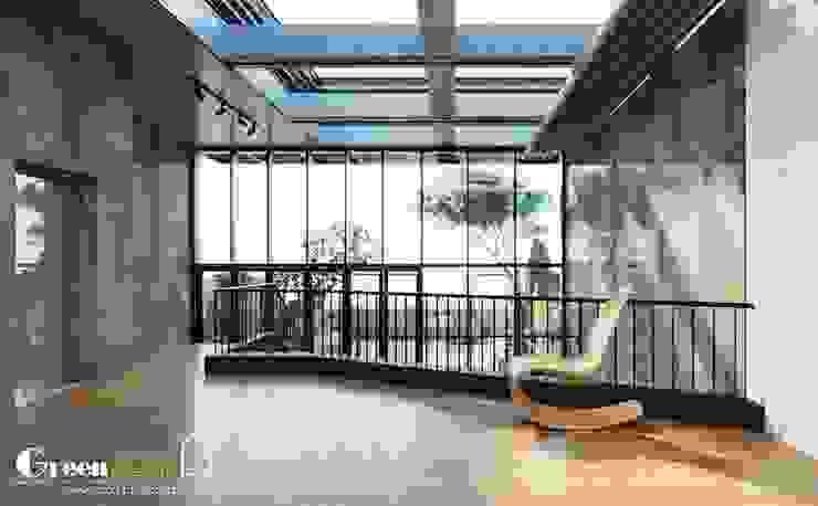 NHÀ PHỐ CAO BẰNG TRÀN NGẬP ÁNH SÁNG bởi Green Interior Hiện đại