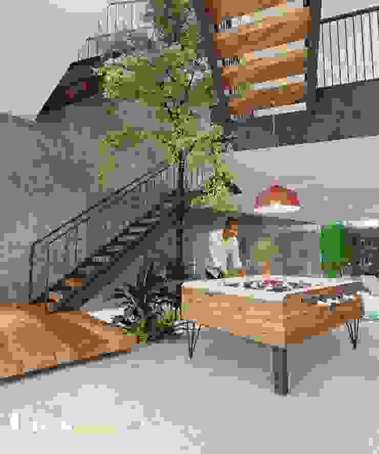 NHÀ PHỐ CAO BẰNG TRÀN NGẬP ÁNH SÁNG Phòng giải trí phong cách hiện đại bởi Green Interior Hiện đại