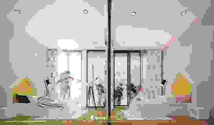 NHÀ PHỐ CAO BẰNG TRÀN NGẬP ÁNH SÁNG Phòng ngủ phong cách hiện đại bởi Green Interior Hiện đại