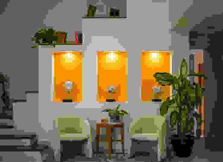 Vestíbluo | Foyer Arquigraph | arquitectura + diseño Pasillos, vestíbulos y escaleras mediterráneos Concreto Amarillo