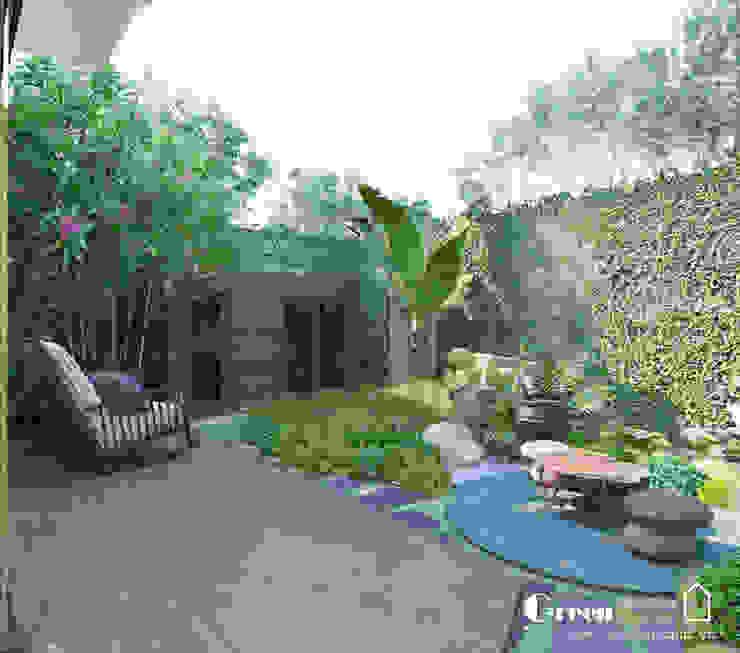 THIẾT KẾ BIỆT THỰ SÂN VƯỜN ECOPARK – THÁCH THỨC MỌI GIỚI HẠN Vườn phong cách hiện đại bởi Green Interior Hiện đại