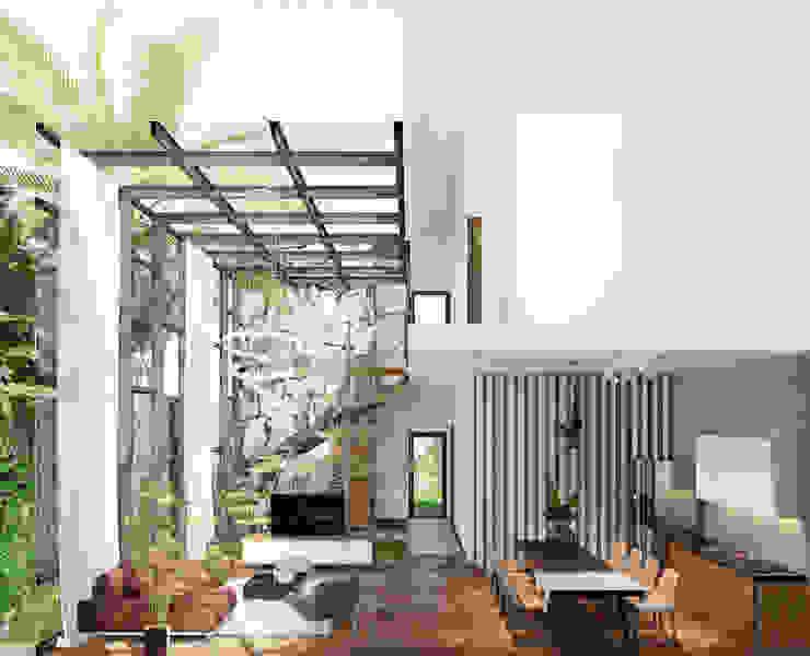 THIẾT KẾ BIỆT THỰ SÂN VƯỜN ECOPARK – THÁCH THỨC MỌI GIỚI HẠN bởi Green Interior Hiện đại