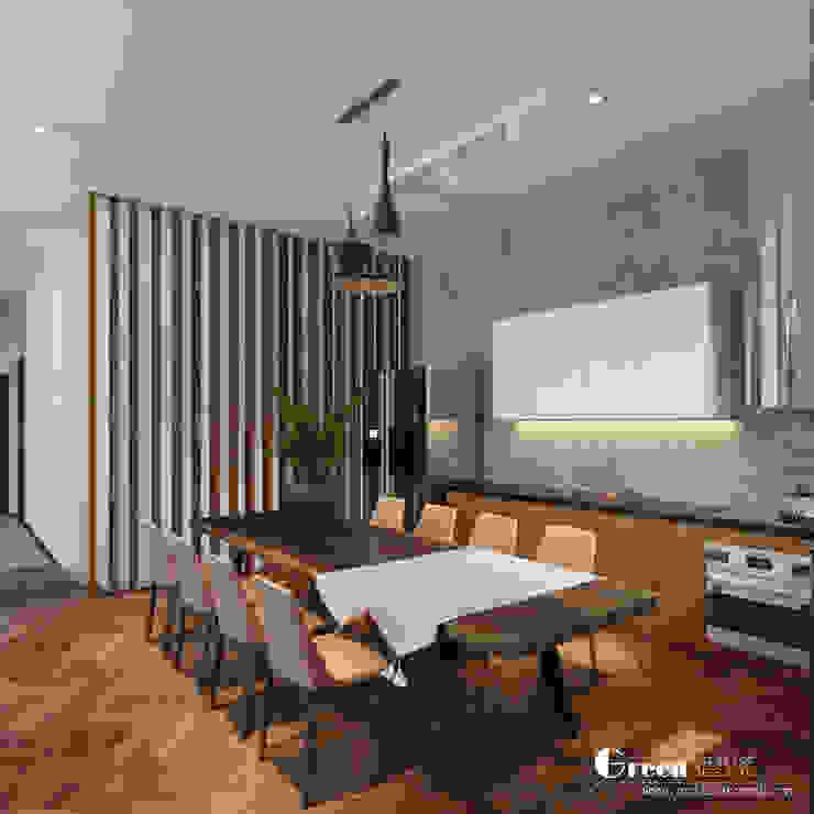 THIẾT KẾ BIỆT THỰ SÂN VƯỜN ECOPARK – THÁCH THỨC MỌI GIỚI HẠN Phòng ăn phong cách hiện đại bởi Green Interior Hiện đại