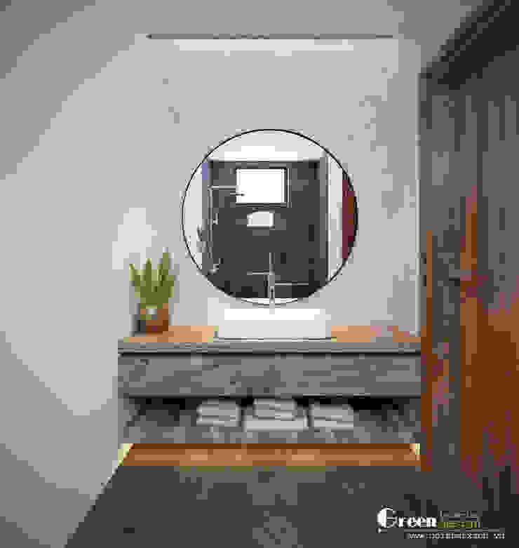 THIẾT KẾ BIỆT THỰ SÂN VƯỜN ECOPARK – THÁCH THỨC MỌI GIỚI HẠN Phòng tắm phong cách hiện đại bởi Green Interior Hiện đại