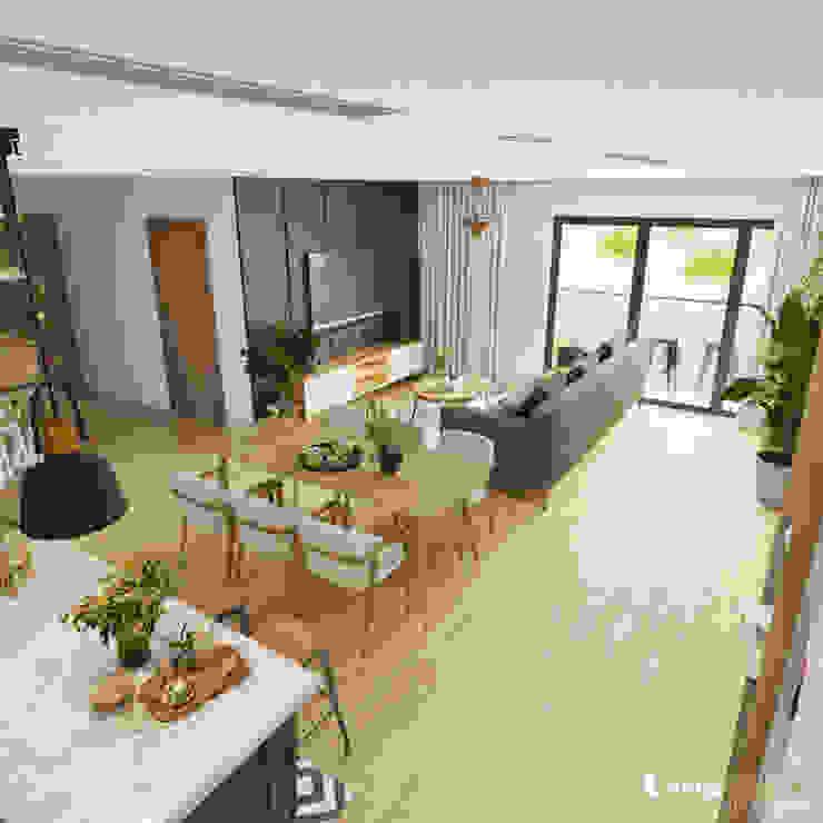 RỪNG MƯA NHIỆT ĐỚI – CĂN HỘ SEASONS AVENUE KHOE SẮC NGÀY HÈ: hiện đại  by Green Interior, Hiện đại
