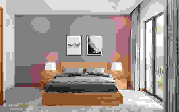 """""""BIỆT THỰ CUỐI TUẦN"""" VINHOMES THĂNG LONG Phòng ngủ phong cách hiện đại bởi Green Interior Hiện đại"""