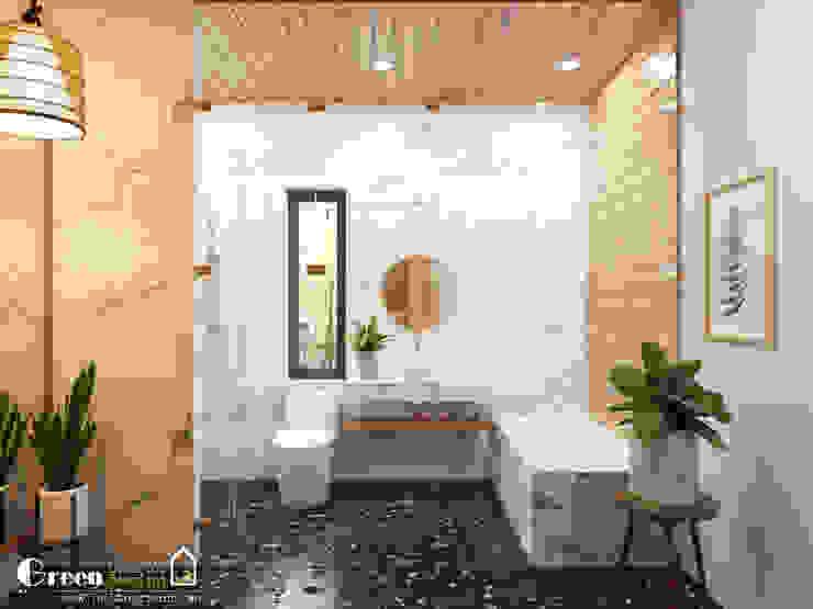 Green Interior 現代浴室設計點子、靈感&圖片
