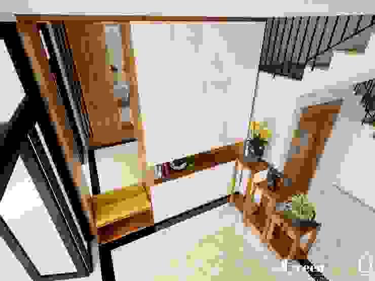 Green Interior 现代客厅設計點子、靈感 & 圖片
