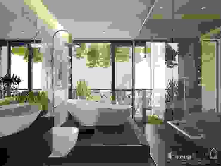 BIỆT THỰ VINHOME THĂNG LONG XANH NGÁT GIỮA LÒNG HÀ NỘI: hiện đại  by Green Interior, Hiện đại