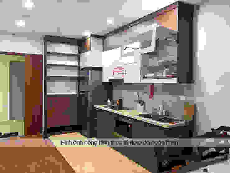 Hình ảnh thực tế bộ tủ bếp laminate nhà anh Trung - Nguyễn Chánh: hiện đại  by Nội thất Hpro, Hiện đại
