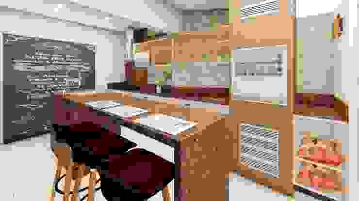 Cozinha Gourmet:   por Fark Arquitetura e Design