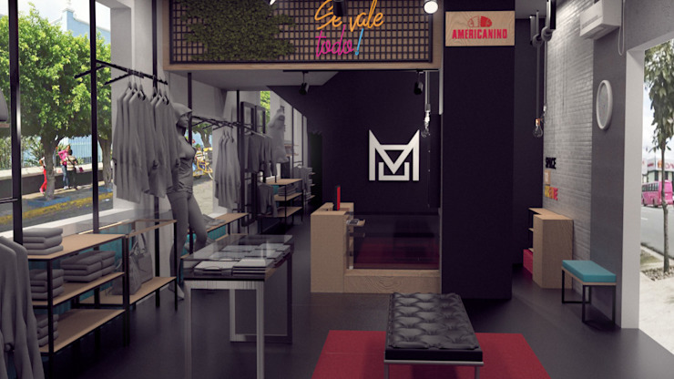 Diseño de boutique MOOREA en buenaventura. de Nuvú - Lideres en espacios comerciales.