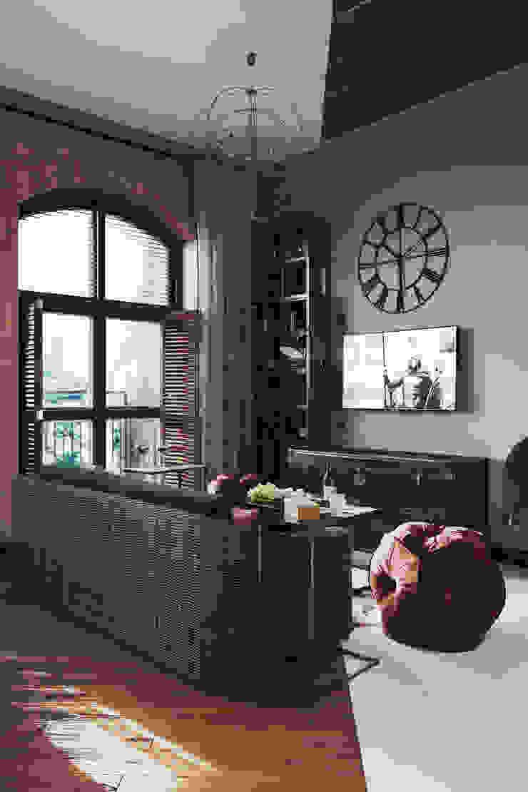 Salas de estilo industrial de Zibellino.Design Industrial