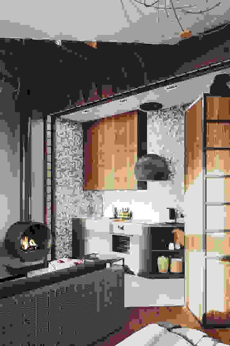 Cocinas de estilo industrial de Zibellino.Design Industrial