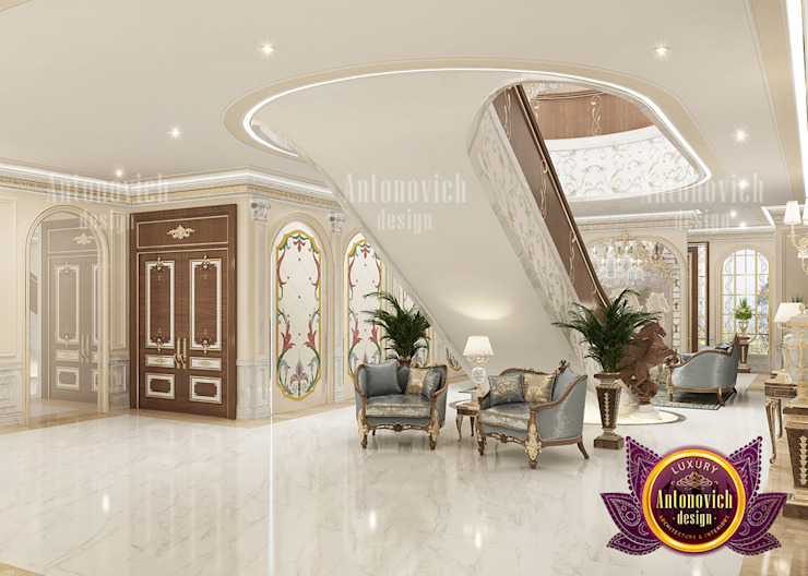 Newly Beautiful Staircase for Interior by Luxury Antonovich Design