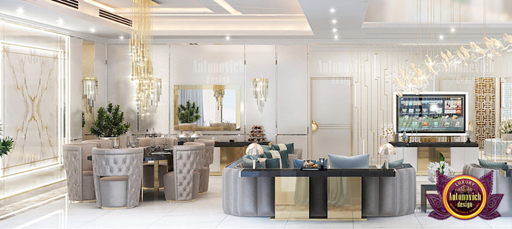 Grand Amazing Living Interior Design by Luxury Antonovich Design