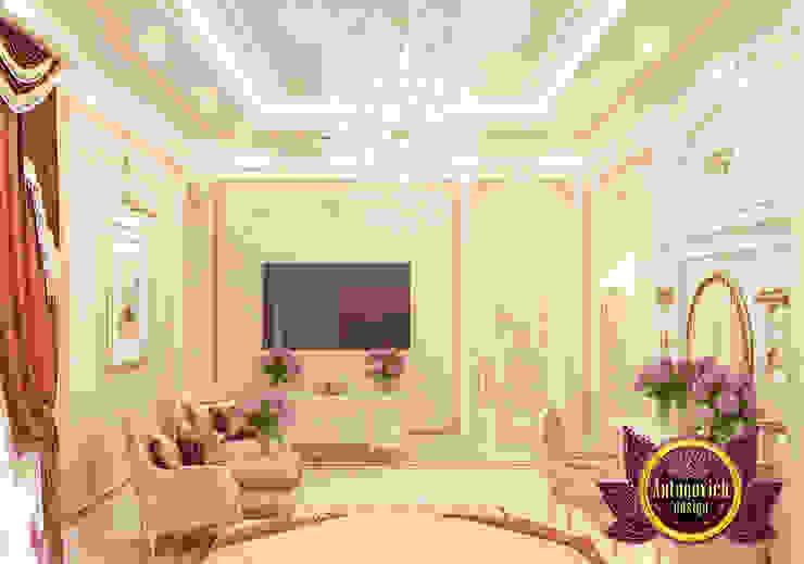 Lovely Pinky Bedroom Design for Girls by Luxury Antonovich Design