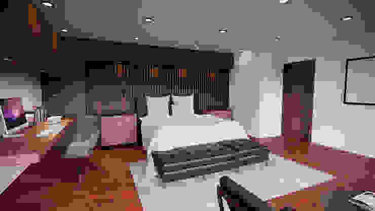 WORK BIM Modern style bedroom Wood