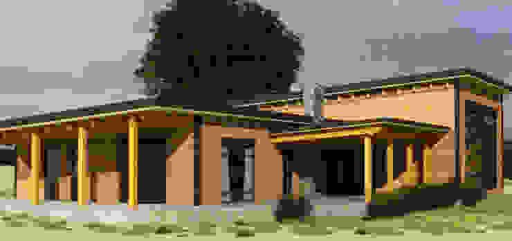 منزل خشبي تنفيذ CEC Espinoza y Canales LTDA, ريفي
