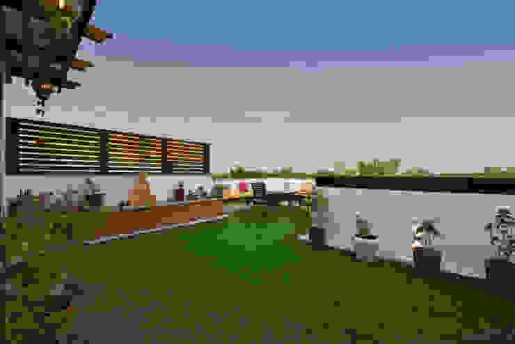 Landscaped Terrace Garden Desigent Design Studio Modern Terrace