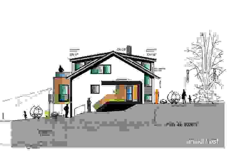 Projekt NEK--Umbau & Modernisierung eines EFH a r c h i t e k t u r b ü r o grimm Moderne Häuser