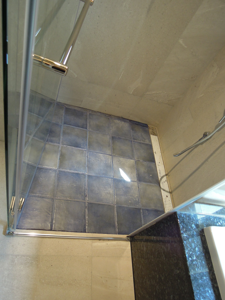 淋浴間 根據 houseda 鄉村風 磁磚