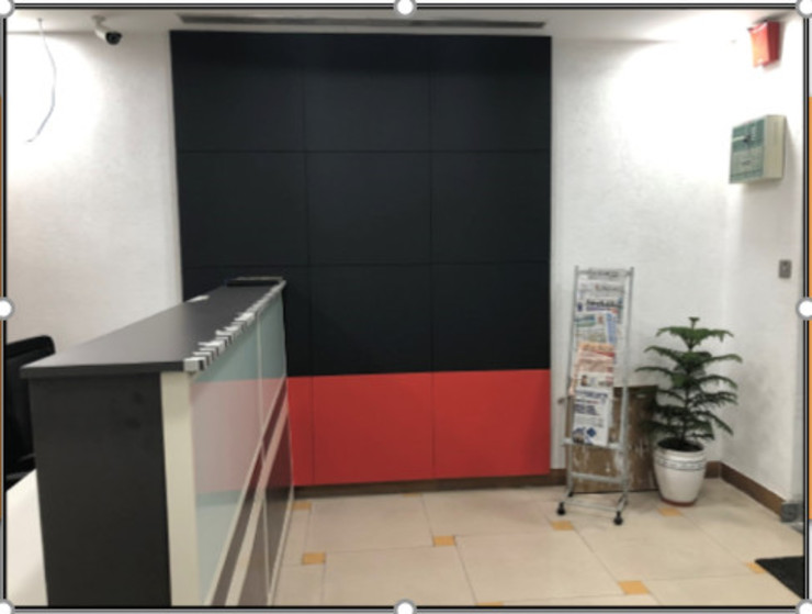 Reception Area:  Offices & stores by Ecoinch Services Private Limited,Modern
