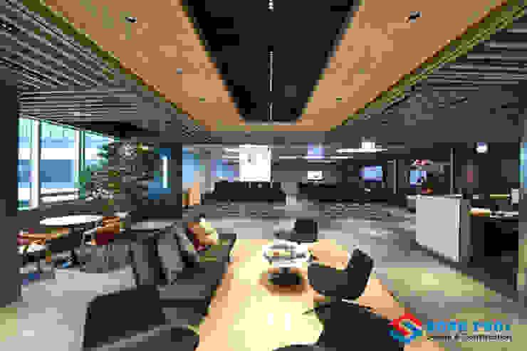 Một thiết kế văn phòng làm việc rộng rãi thoáng mát.: Châu Á  by Công Ty Cổ Phần Kiến Trúc Xây Dựng Song Phát, Châu Á