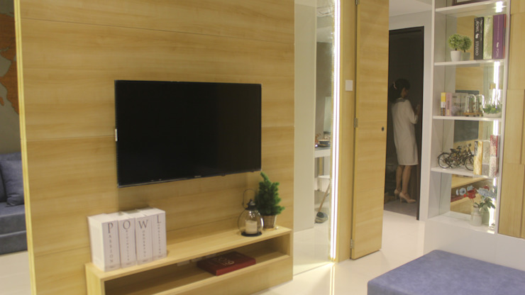 Lexington apartment Ruang Media Modern Oleh POWL Studio Modern
