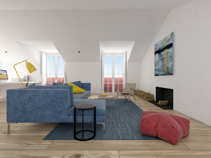 Minimalist living room by martimsousaemelo Minimalist Wood Wood effect