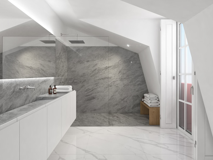 Minimalist bathroom by martimsousaemelo Minimalist Marble
