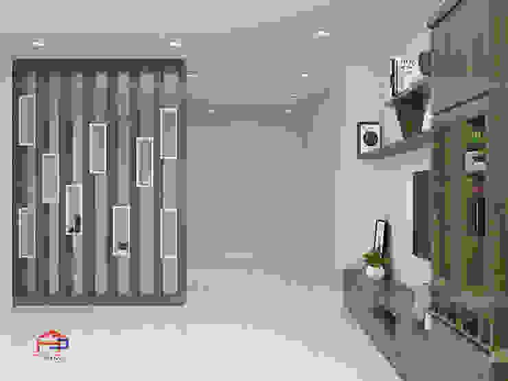 Hình ảnh thiết kế 3D vách ngăn trang trí nhà anh Hòa - Lạng Sơn: hiện đại  by Nội thất Hpro, Hiện đại