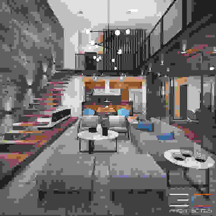 Residencia LA [León, Gto.]: Escaleras de estilo  por 3C Arquitectos S.A. de C.V.,
