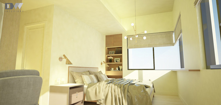 Masters bedroom Minimalist bedroom by DW Interiors Minimalist