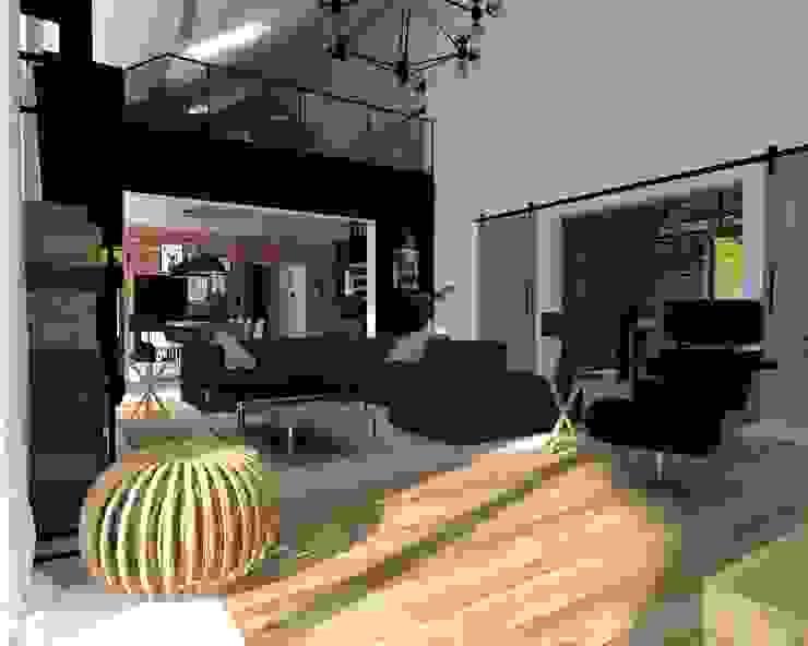 Salon Industrialny salon od KADA WNĘTRZA S.C. Industrialny