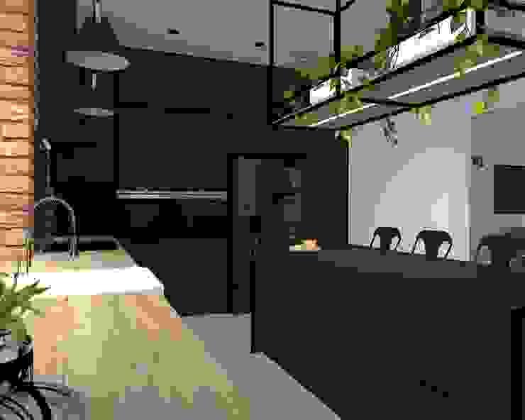 kuchnia Industrialna kuchnia od KADA WNĘTRZA S.C. Industrialny