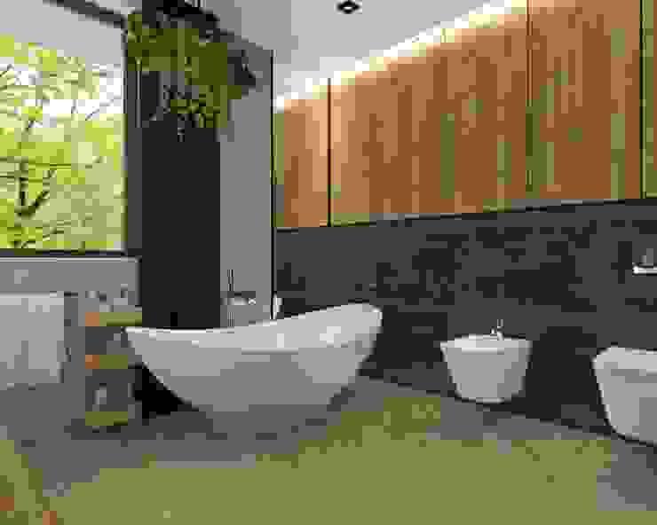 łazienka Industrialna łazienka od KADA WNĘTRZA S.C. Industrialny