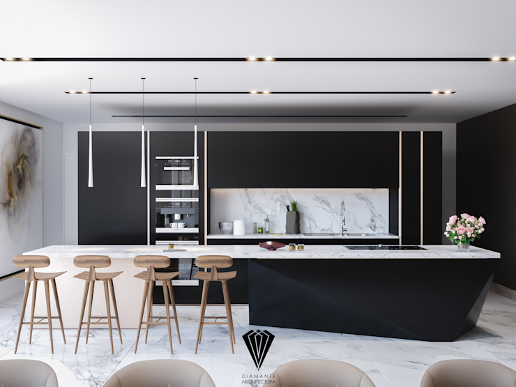 Built-in kitchens by Diamante Arquitectura,