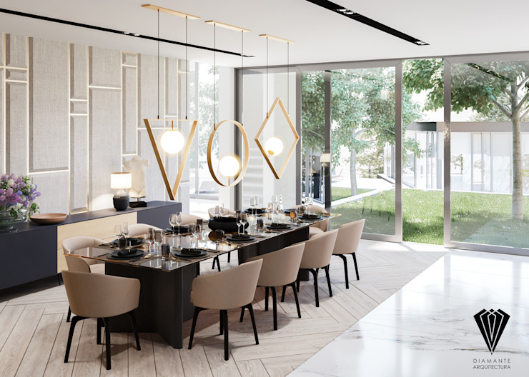 Dining room by Diamante Arquitectura,