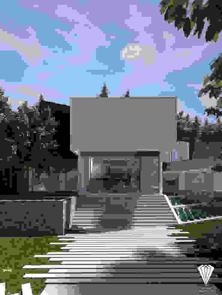 Fachada interior de Diamante Arquitectura Moderno
