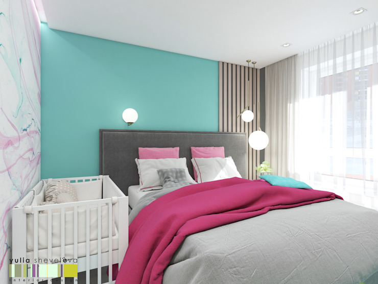 Bedroom by Мастерская интерьера Юлии Шевелевой,