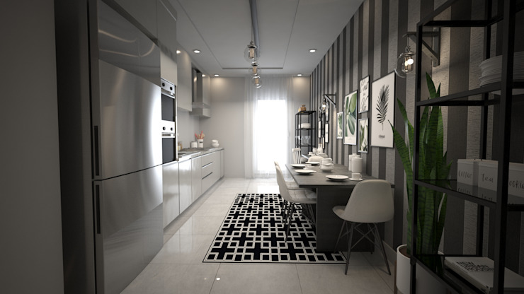 HAZER INTERIOR DESIGN STUDIO – Sinpaş Marina Projesi | Mutfak Tasarımı:  tarz Mutfak